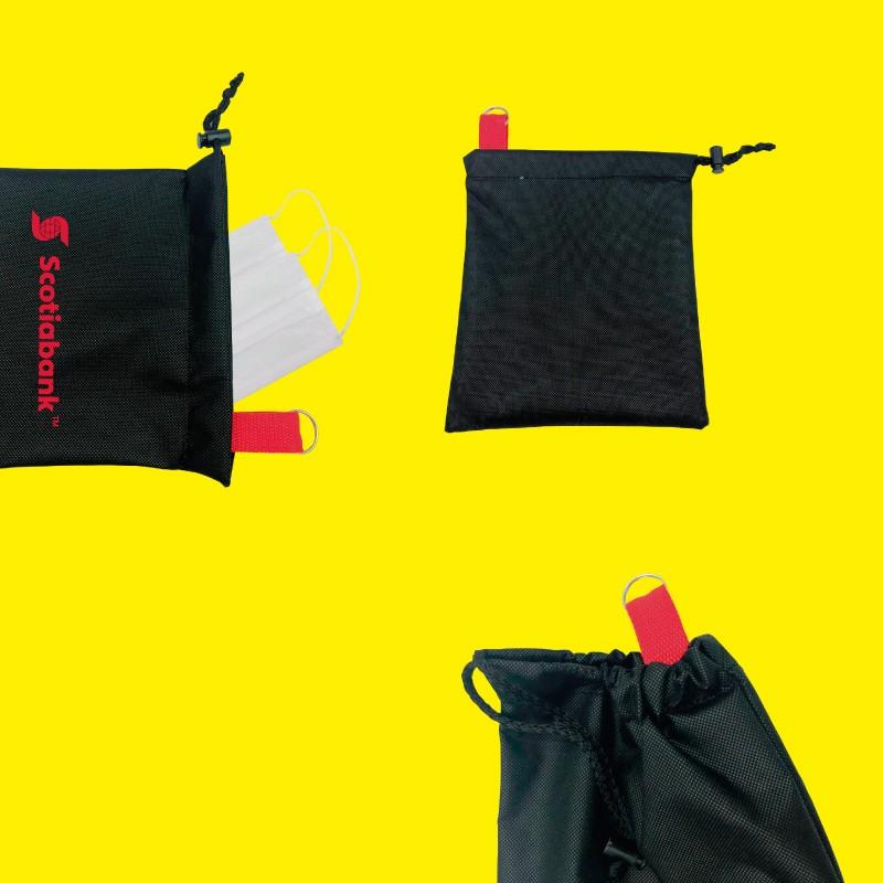 bolsa contenedora porta cubrebocas estuche